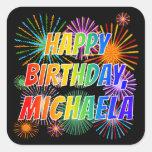 """[ Thumbnail: First Name """"Michaela"""", Fun """"Happy Birthday"""" Sticker ]"""