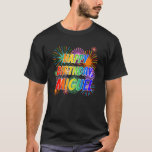 "[ Thumbnail: First Name ""Miguel"", Fun ""Happy Birthday"" T-Shirt ]"
