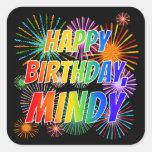 "[ Thumbnail: First Name ""Mindy"", Fun ""Happy Birthday"" Sticker ]"