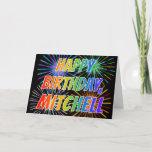 "[ Thumbnail: First Name ""Mitchell"" Fun ""Happy Birthday"" Card ]"