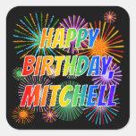 """[ Thumbnail: First Name """"Mitchell"""", Fun """"Happy Birthday"""" Sticker ]"""