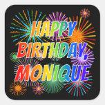 """[ Thumbnail: First Name """"Monique"""", Fun """"Happy Birthday"""" Sticker ]"""