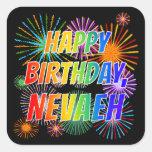 """[ Thumbnail: First Name """"Nevaeh"""", Fun """"Happy Birthday"""" Sticker ]"""