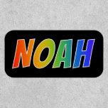 "[ Thumbnail: First Name ""Noah"" ~ Fun Rainbow Coloring ]"