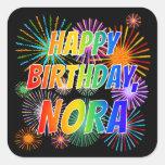 """[ Thumbnail: First Name """"Nora"""", Fun """"Happy Birthday"""" Sticker ]"""