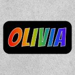 "[ Thumbnail: First Name ""Olivia"" ~ Fun Rainbow Coloring ]"