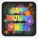 """[ Thumbnail: First Name """"Owen"""", Fun """"Happy Birthday"""" Sticker ]"""