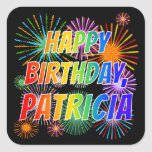 """[ Thumbnail: First Name """"Patricia"""", Fun """"Happy Birthday"""" Sticker ]"""