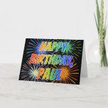 "[ Thumbnail: First Name ""Paul"" Fun ""Happy Birthday"" Card ]"