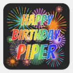 "[ Thumbnail: First Name ""Piper"", Fun ""Happy Birthday"" Sticker ]"