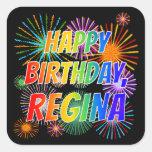 "[ Thumbnail: First Name ""Regina"", Fun ""Happy Birthday"" Sticker ]"
