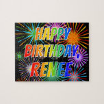 "[ Thumbnail: First Name ""Renee"", Fun ""Happy Birthday"" Jigsaw Puzzle ]"