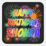 "[ Thumbnail: First Name ""Rhonda"", Fun ""Happy Birthday"" Sticker ]"