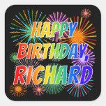 """[ Thumbnail: First Name """"Richard"""", Fun """"Happy Birthday"""" Sticker ]"""