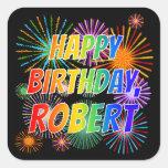 "[ Thumbnail: First Name ""Robert"", Fun ""Happy Birthday"" Sticker ]"