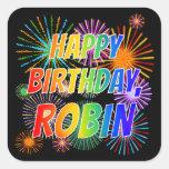 "[ Thumbnail: First Name ""Robin"", Fun ""Happy Birthday"" Sticker ]"