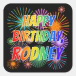 "[ Thumbnail: First Name ""Rodney"", Fun ""Happy Birthday"" Sticker ]"