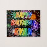 "[ Thumbnail: First Name ""Ryan"", Fun ""Happy Birthday"" Jigsaw Puzzle ]"