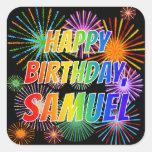 "[ Thumbnail: First Name ""Samuel"", Fun ""Happy Birthday"" Sticker ]"