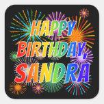 "[ Thumbnail: First Name ""Sandra"", Fun ""Happy Birthday"" Sticker ]"