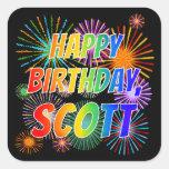 """[ Thumbnail: First Name """"Scott"""", Fun """"Happy Birthday"""" Sticker ]"""