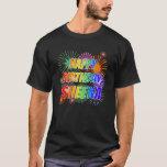 "[ Thumbnail: First Name ""Sheena"", Fun ""Happy Birthday"" T-Shirt ]"