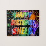 """[ Thumbnail: First Name """"Shelby"""", Fun """"Happy Birthday"""" Jigsaw Puzzle ]"""