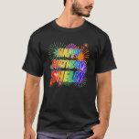 "[ Thumbnail: First Name ""Shelly"", Fun ""Happy Birthday"" T-Shirt ]"