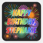 "[ Thumbnail: First Name ""Stephanie"", Fun ""Happy Birthday"" Sticker ]"