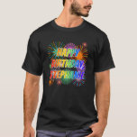 "[ Thumbnail: First Name ""Stephanie"", Fun ""Happy Birthday"" T-Shirt ]"