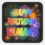 """[ Thumbnail: First Name """"Tamara"""", Fun """"Happy Birthday"""" Sticker ]"""
