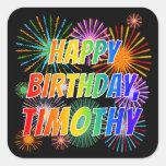 "[ Thumbnail: First Name ""Timothy"", Fun ""Happy Birthday"" Sticker ]"