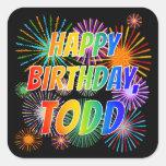 """[ Thumbnail: First Name """"Todd"""", Fun """"Happy Birthday"""" Sticker ]"""