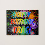 "[ Thumbnail: First Name ""Traci"", Fun ""Happy Birthday"" Jigsaw Puzzle ]"