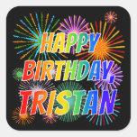 """[ Thumbnail: First Name """"Tristan"""", Fun """"Happy Birthday"""" Sticker ]"""