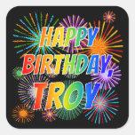 """[ Thumbnail: First Name """"Troy"""", Fun """"Happy Birthday"""" Sticker ]"""