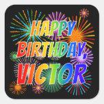 "[ Thumbnail: First Name ""Victor"", Fun ""Happy Birthday"" Sticker ]"