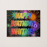 "[ Thumbnail: First Name ""Whitney"", Fun ""Happy Birthday"" Jigsaw Puzzle ]"