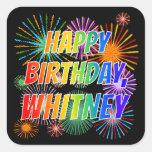 """[ Thumbnail: First Name """"Whitney"""", Fun """"Happy Birthday"""" Sticker ]"""