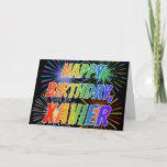 "[ Thumbnail: First Name ""Xavier"" Fun ""Happy Birthday"" Card ]"