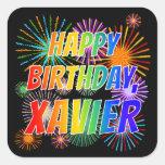 """[ Thumbnail: First Name """"Xavier"""", Fun """"Happy Birthday"""" Sticker ]"""