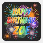"""[ Thumbnail: First Name """"Zoe"""", Fun """"Happy Birthday"""" Sticker ]"""