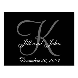 First Names Initial Monogram Save the Date Card