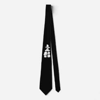 First Nation Art Tie Inukshuk Inuit Native Art Tie
