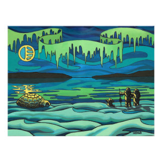 First Nation Painting Print Inuit Love Home Decor