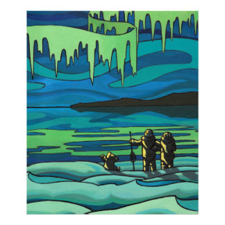 First Nation Painting Print Inuit Love Print Large