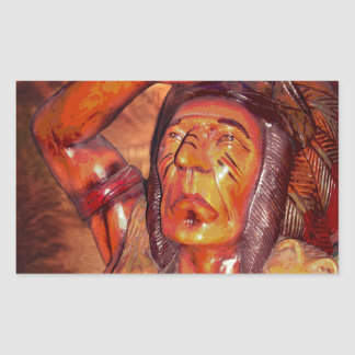 First Nation Vintage American Indian Rectangle Sticker