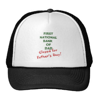 First National Bank of Dad gifts and tees. Trucker Hat