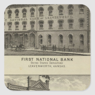 First National Bank Square Sticker
