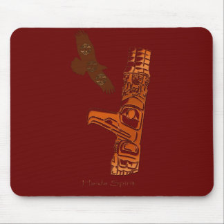 First Nations Haida Eagle & Totem Pole Mousemat Mouse Pad